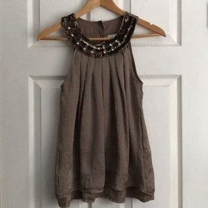 Adiva Anthropologie Sequin Tank Top